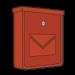 Červené pozinkované poštovní schránky