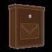Hnědé pozinkované poštovní schránky