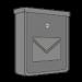 Stříbrné pozinkované poštovní schránky