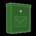 Zelené pozinkované poštovní schránky